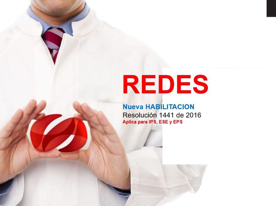 Redes Integrales de Prestadores de servicios de salud resolucion 1441 de 2016