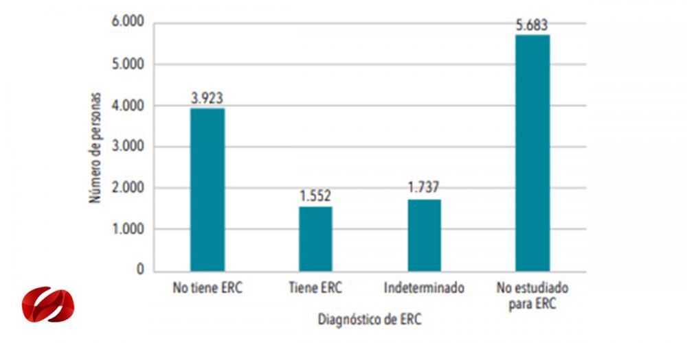 Casos prevalentes e incidentes en hemodiálisis, diálisis peritoneal o trasplante.